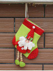 Merry Christmas Decoration Santa Claus Hanging Present Sock - RED