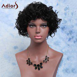 Adiors Medium Shaggy Curly Side Bang Synthetic Wig