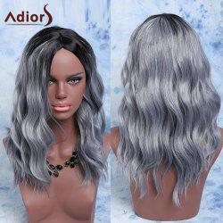 Adiors Mixed Color Synthetic Fluffy Medium Wave Centre Parting Wig