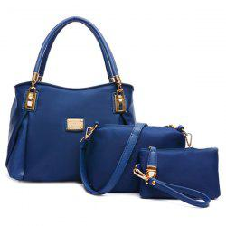 Metallic Nylon Handbag Set