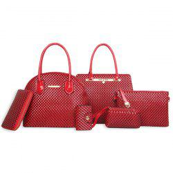 Embossing Handbag 6 Piece Set