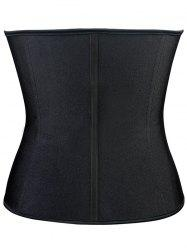 Steel Boned Underbust Corset - BLACK