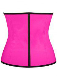 Steel Boned Underbust Corset - ROSE RED