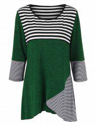 Plus Size Striped Tunic T-Shirt