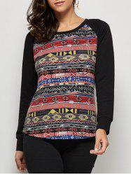 Raglan Sleeve Tribal T-Shirt