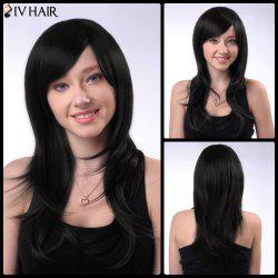 Long Side Bang Silky Straight Siv Human Hair Wig