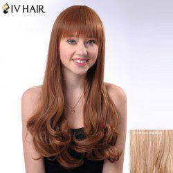 Long Neat Bang Shaggy Wavy Siv Human Hair Wig