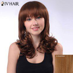 Long Layered Full Bang Shaggy Wavy Siv Human Hair Wig