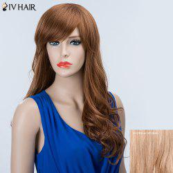 Long Side Bang Shaggy Wavy Siv Human Hair Wig