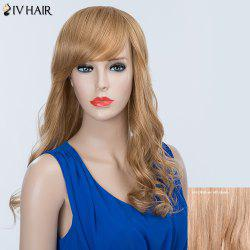 Long Wavy Oblique Bang Fluffy Siv Human Hair Wig