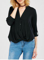 Asymmetric Oversized Blouse -