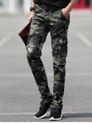 Slim Fit Pocket Camouflaged Cargo Pants