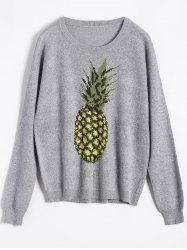 Pineapple Jacquard Knit Sweater -