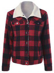Fleece Plaid Shirt Jacket -