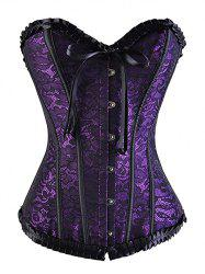 Strapless Lace Up Underbust Steel Boned Corset -