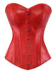 Strapless PU Steel Boned Corset