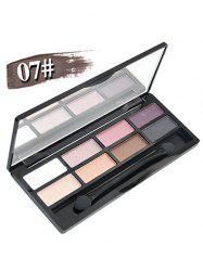 8 Colours Shimmer Matte Eyeshadow Kit - #07