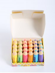 24 Pcs Crayon Shape Lip Balms - COLORMIX