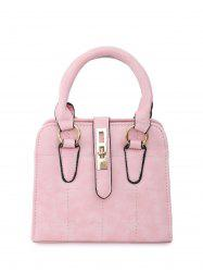 Plaid Pattern Quilted Crossbody Bag - PINK