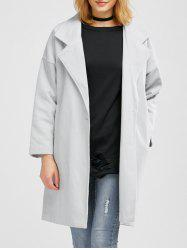 One Button Lapel Wool Blend Coat