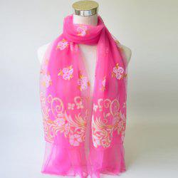 Breathable Glitter Powder Floral Pattern Lace Scarf -