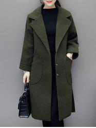 Lapel Duster Walker Coat with Pocket