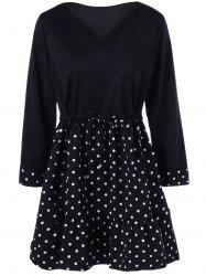 Polka Dot Plus Size Mini Vintage Dress