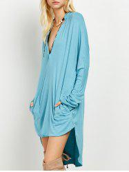 High-Low Loose Long Sleeve Dress