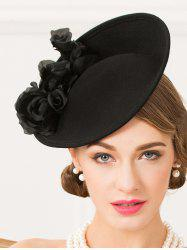 Formal Party Rose Yarn Felt Cocktail Hat