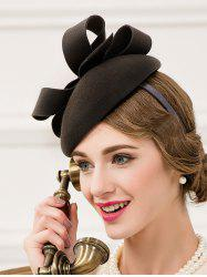 Cocktail Party Hair Clip Wool Felt Pillbox Hat
