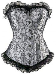 Strapless Lace Insert Corset