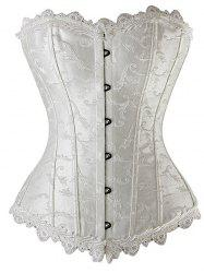 Lace Up Embroidered Corset
