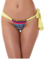 Geometric Print String Thongs -