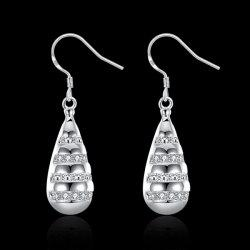 Rhinestone Teardrop Shaped Earrings