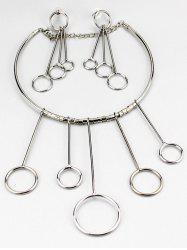 Circles Necklace and Drop Earrings