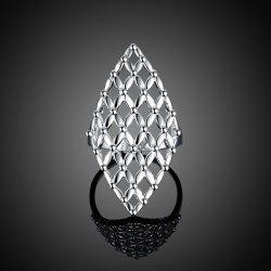 Hollow Out Geometric Ring - SILVER