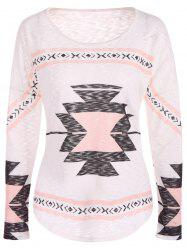 Geometry Drop Shoulder Christmas Tee - SHALLOW PINK S