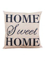 Letter Home Sweet Sofa Cushion Linen Pillowcase - BEIGE