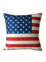 American Flag Printed Backrest Throw Pillowcase - COLORMIX
