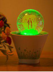 Colorful Lovers USB Glass Ball Bonsai Wedding LED Night Light -