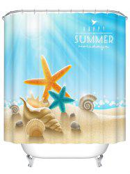 Starfish Shell Bath Waterproof Polyester Shower Curtain - COLORMIX 200CM*200CM
