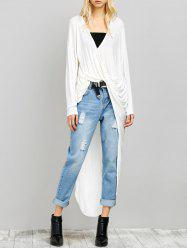 Twisted Drape Front High Low Top -