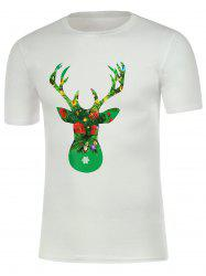 Short Sleeve Graphic Christmas T-Shirt