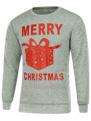 Gift Box Print Long Sleeve Christmas Sweatshirt