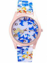 Tree Leaves Printed Silicone Watch -