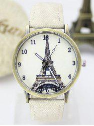 Eiffel Tower Artificial Leather Watch