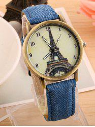Eiffel Tower Artificial Leather Watch - BLUE