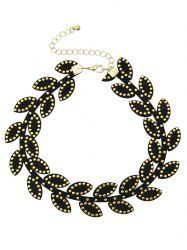 Leaf Rivet Choker Necklace