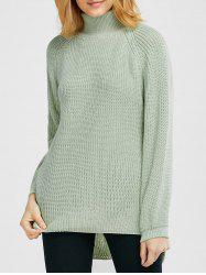 Slit High Low Chunky Sweater -