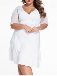 Half Sleeve Plus Size Swing Dress
